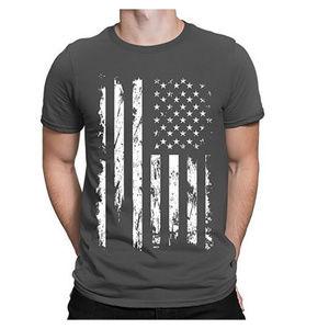 Other - NWT Dark Grey USA Flag T-Shirt S M L XL 2XL 3XL